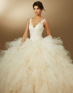 New 2015 Quinceanera Dress with Straps